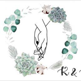 Ευχαριστήριο καρτελάκι γάμου Holding Hands
