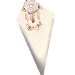 Χωνάκια ζαχαρωτών Ονειροπαγίδα ροζ