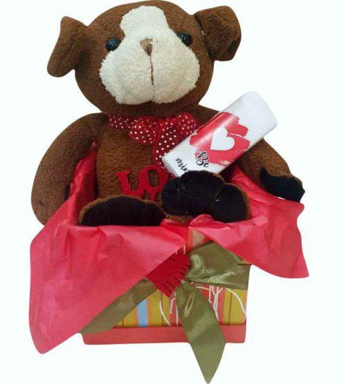 Κουτί Βαλεντίνου Σκυλάκι & σοκολάτα