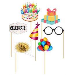 Στικάκια Photo booth Happy Birthday