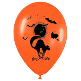 12″ Μπαλόνι Happy Halloween γάτα