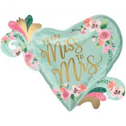 """Μπαλόνι """"From Miss to Mrs"""" 81 εκ"""