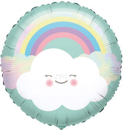 Μπαλόνι Ουράνιο τόξο & Συννεφάκι 43 εκ