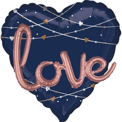Μπαλόνι αγάπης Καρδιά Navy Love 68 εκ