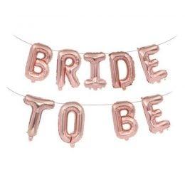 Μπαλόνι ροζ χρυσό Bride to be (9 τεμ) μπάτσελορ αξεσουάρ