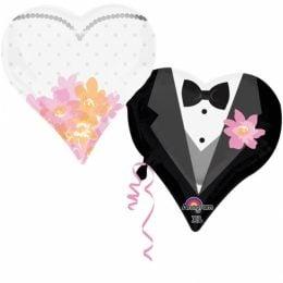 Μπαλόνι ενωμένες καρδιές Γάμου 76 εκ