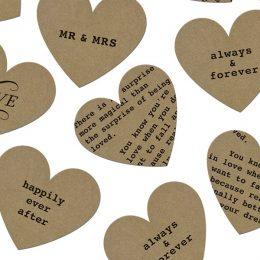 Χάρτινες Καρδιές με μηνύματα αγάπης