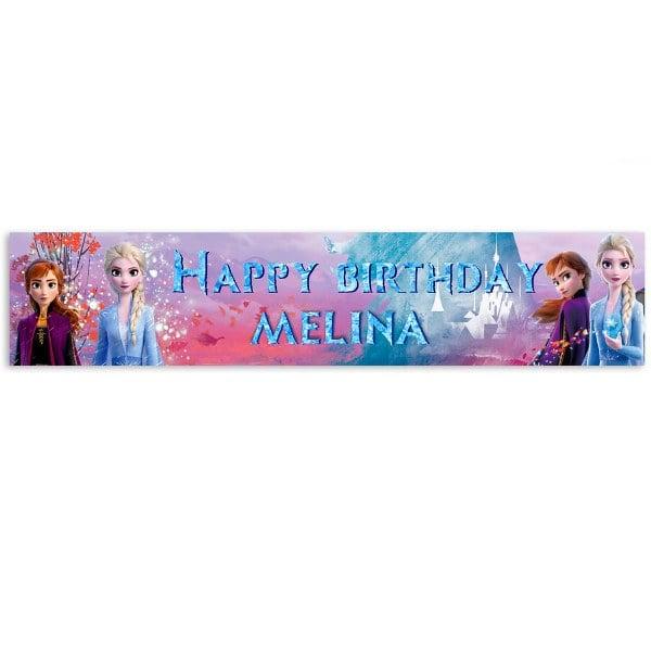 Banner με μήνυμα Frozen