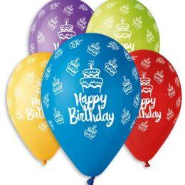 12″ Μπαλόνι Happy Birthday τούρτες 5 χρώματα