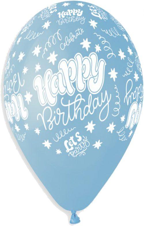 """13"""" Μπαλόνι baby blue Birthday Celebration"""