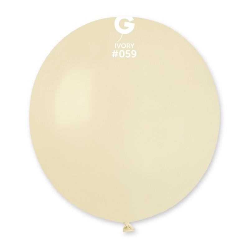 "48cm – 19"" Ιβουάρ μεγάλο μπαλόνι"