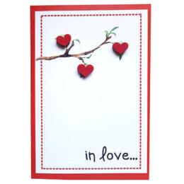 Κάρτα Αγάπης Δέντρο αγάπης με καρδιές