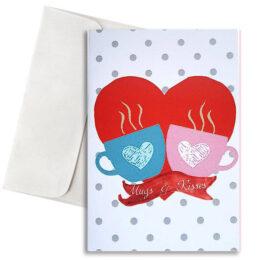 Κάρτα Αγάπης Mugs & Kisses