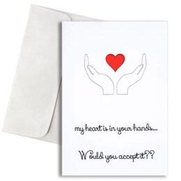 """Κάρτα Αγάπης """"My heart in your hands"""""""