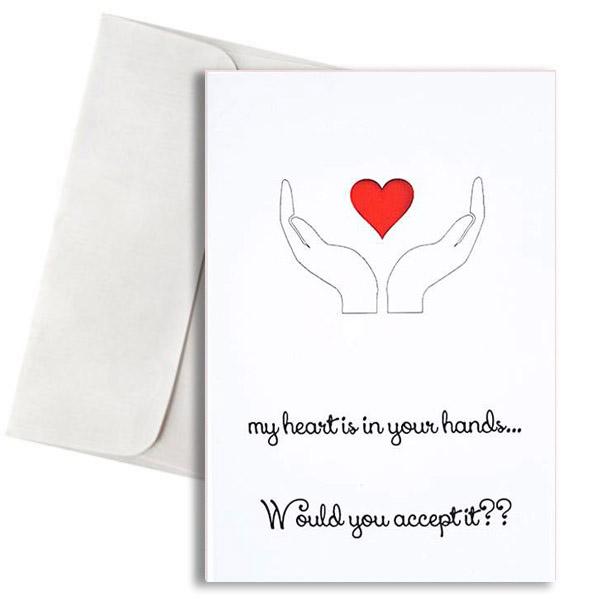 Κάρτα Αγάπης my heart in your hands