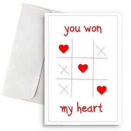 Κάρτα Βαλεντίνου Τρίλιζα You won my heart