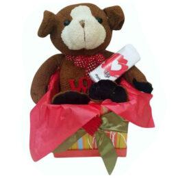 Κουτί Βαλεντίνου Αρκουδάκι & Σ'αγαπώ