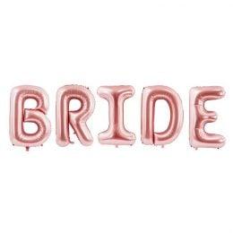 Μπαλόνι ροζ χρυσό Bride