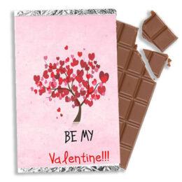 """Σοκολάτα Βαλεντίνου Δεντράκι """"Be my Valentine"""" 100gr"""