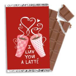 Σοκολάτα Βαλεντίνου I luv you a latte