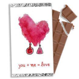 """Σοκολάτα Αγάπης """"Χημεία you + me"""" 100gr"""