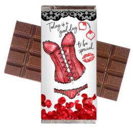 """Σοκολάτα Αγάπης """"Ζαρτιέρες"""" 100gr"""