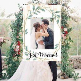 Κάδρο Photo Booth Γάμου κλαδιά