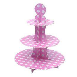 για Cupcake ροζ με λευκό πουά