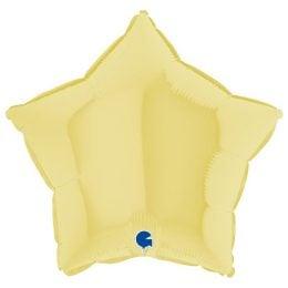 Μπαλόνι κίτρινο ματ αστέρι 18″