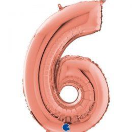 Μπαλόνι 66 εκ Rosegold Αριθμός 6
