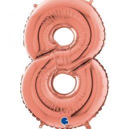 Μπαλόνι 66 εκ Rosegold Αριθμός 8