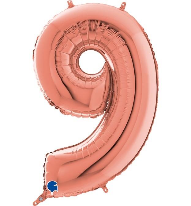 Μπαλόνι 66 εκ Rosegold Αριθμός 9
