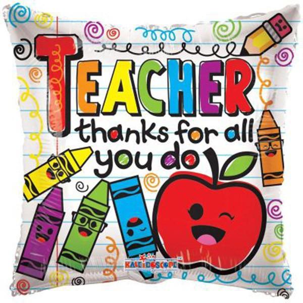 Μπαλόνι αποφοίτησης Teacher thanκs for all 46 εκ