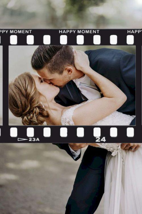Κάδρο Photo Booth Γάμου vintage film