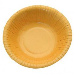 Μπολ πάρτυ χάρτινο μικρό κίτρινο (8 τεμ)