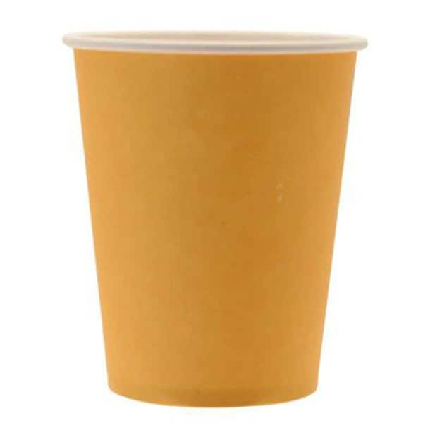 Ποτήρια πάρτυ μεγάλα χάρτινα κίτρινα (8 τεμ)
