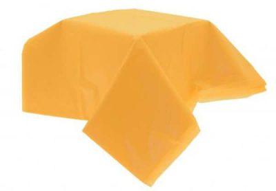 Τραπεζομάντηλο ορθογώνιο πλαστικό κίτρινο 2,64μ