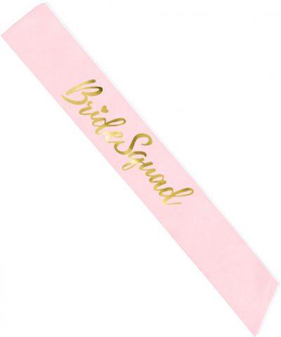 Κορδέλα ροζ σατέν Bride Squad