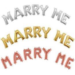 """Σετ Μπαλόνια """"Marry Me"""" (7 τεμ)"""