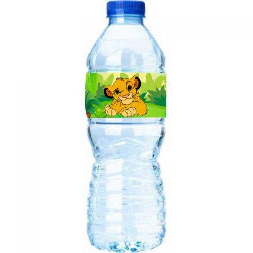 Χάρτινες ετικέτες νερού Lion King (8 τεμ)