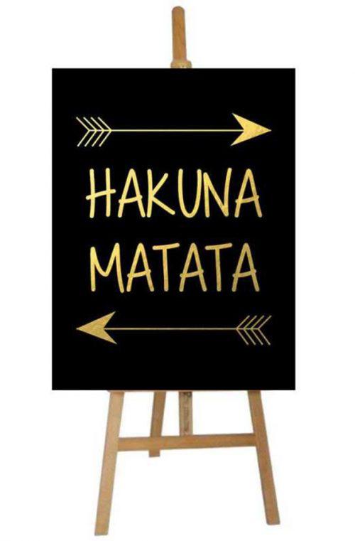 Καμβάς πάρτυ Hakuna Matata