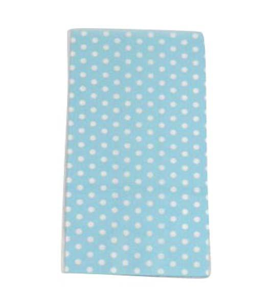 Γαλάζιες με μικρό πουά χάρτινες σακούλες για δωράκια