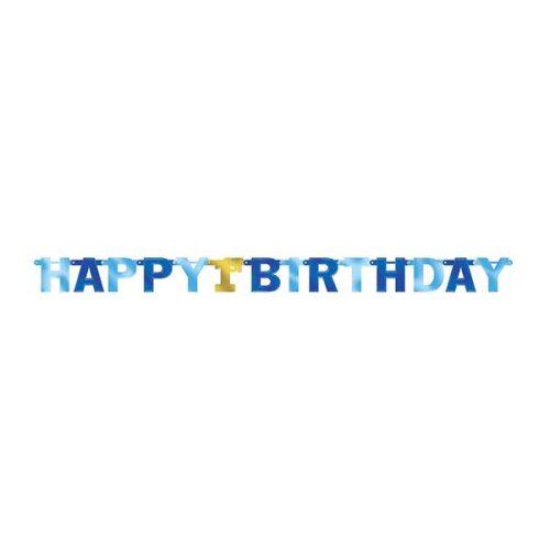 Μπάννερ με γράμματα 1st Birthday μπλε