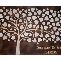 Ξύλινο κάδρο ευχών δέντρο