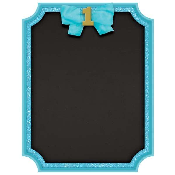 Μαυροπίνακας με κιμωλία 1st Birthday μπλε