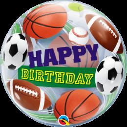 """Μπαλόνι """"Happy Birthday"""" μπάλα ποδοσφαίρου bubble 56 εκ"""