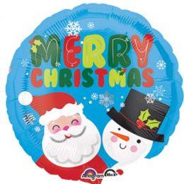Μπαλόνι Άγιος Βασίλης & Χιονάνθρωπος 43 εκ