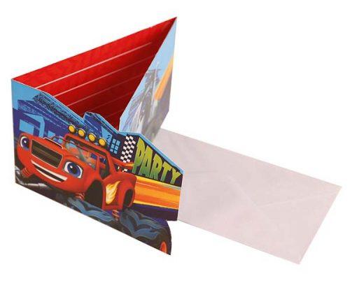 Προσκλήσεις με φάκελο Blaze (8 τεμ)