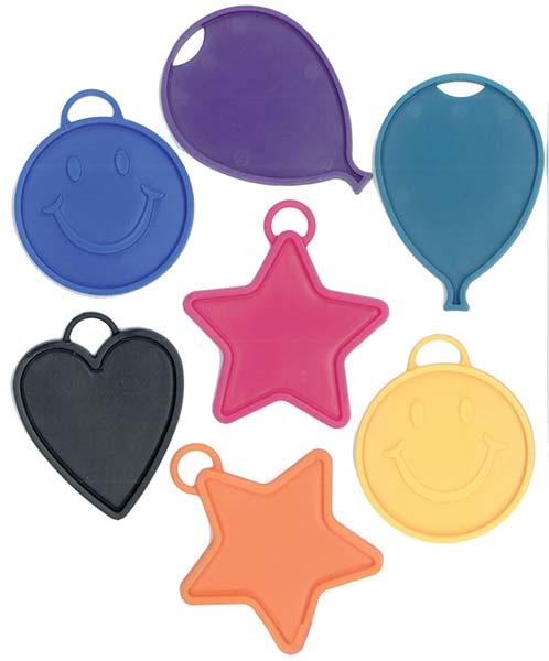 Βαρίδια για μπαλόνια διάφορα χρώματα και σχήματα (10 τεμ)