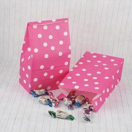Φούξια πουά σακουλάκι για δώρο